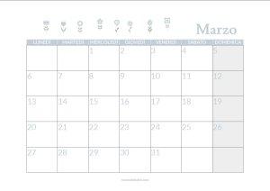 calendario marzo stampabile