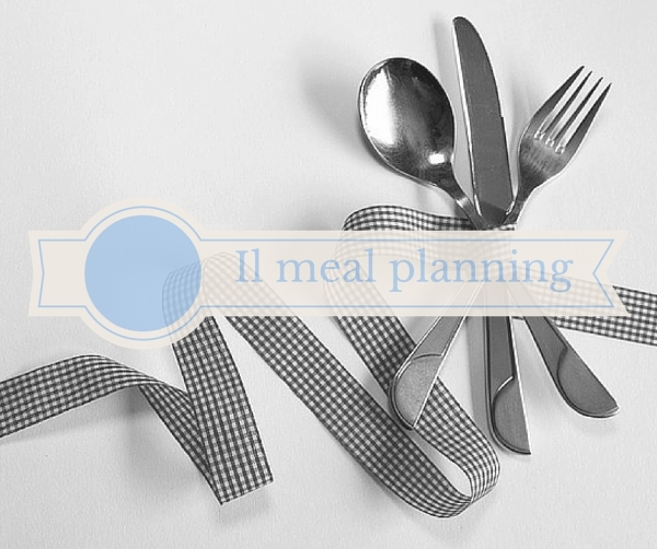 menu settimanale meal planning