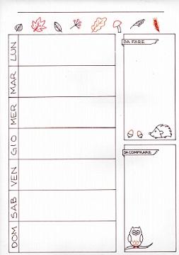 calendario settimanale stampabile
