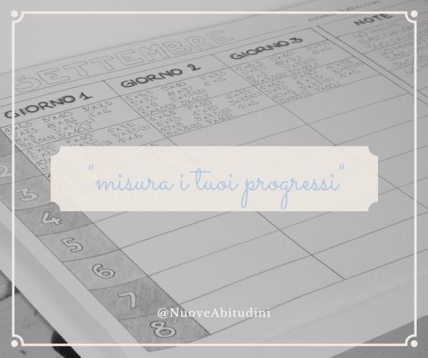 misurare progressi