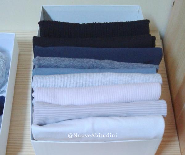 magliette in ordine