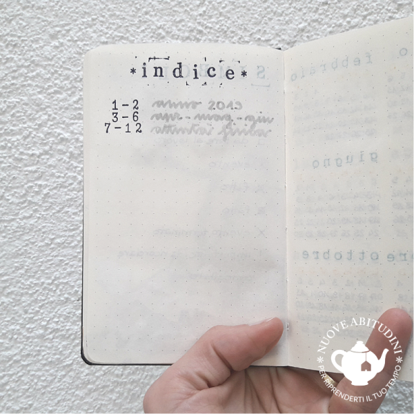 indice bullet journal