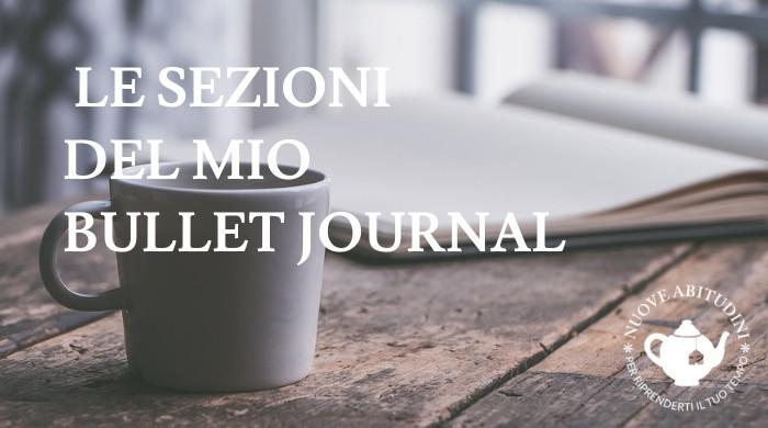 sezioni bullet journal